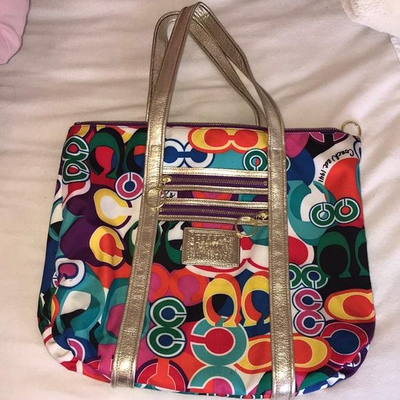 Coach Handbags - Multi Colored Coach Tote